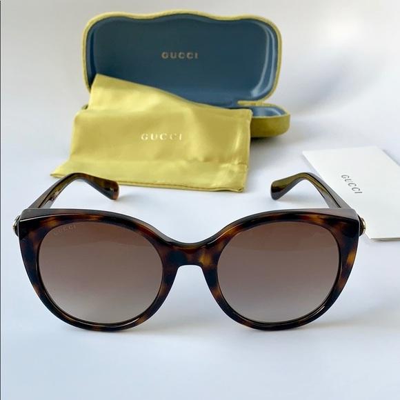 b9e80f4a090 Gucci Sunglasses Cat Eye GG0369S-002 Havana Brown